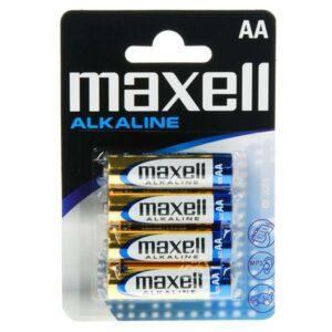 ΜΠΑΤΑΡΙΕΣ MAXELL ALKALINE LR06 4ΤΕΜ AA