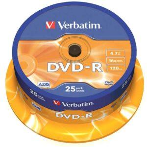 DVD-R VERBATIM 16Χ4.7G 25ΑΔΑ