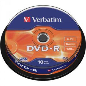 DVD-R VERBATIM 4.7GB 10Τ 43523