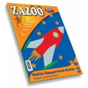 ΧΑΡΤΙ ZAZOO Νο2 ΚΟΛΑΖ 10 ΧΡΩΜΑΤΑ 25Χ35 220ΓΡ