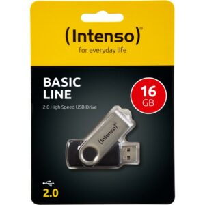 USB INTENSO 16GB BASIC LINE ΜΑΥΡΟ