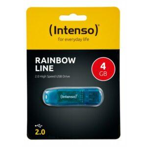 USB STICK INTENSO 4GB RAINBOW LINE BLUE