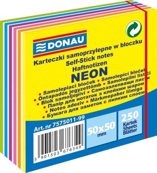ΑΥΤΟΚΟΛΛΗΤΑ ΧΑΡΤΑΚΙΑ ΚΥΒΟΣ DONAU NEON 50X50 CM