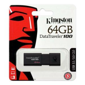 USB KINGSTON DATA TRAVELER DTIG4 64GB 3.0 ΜΑΥΡΟ